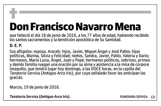 Francisco Navarro Mena