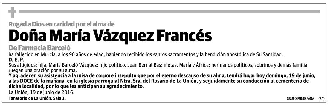 María Vázquez Francés