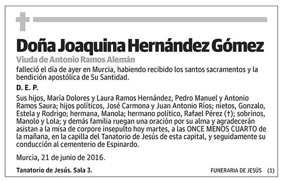 Joaquina Hernández Gómez