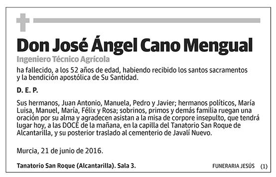 José Ángel Cano Mengual