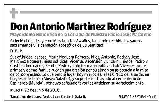 Antonio Martínez Rodríguez