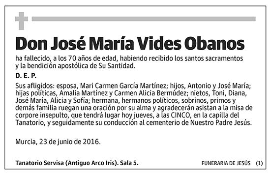 José María Vides Obanos