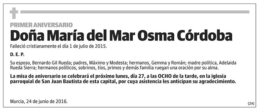 María del Mar Osma Córdoba