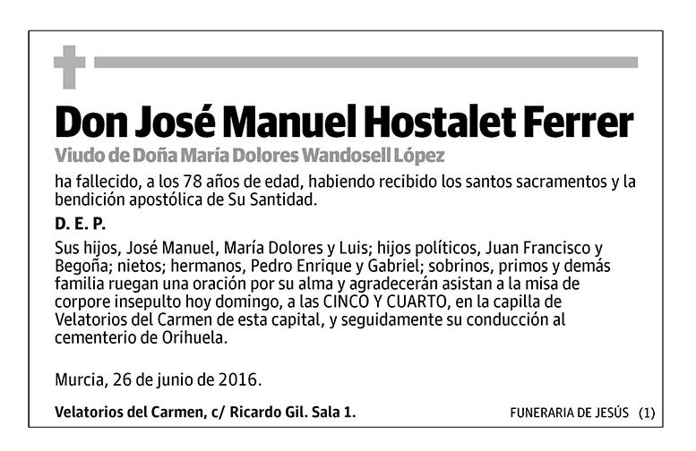 José Manuel Hostalet Ferrer