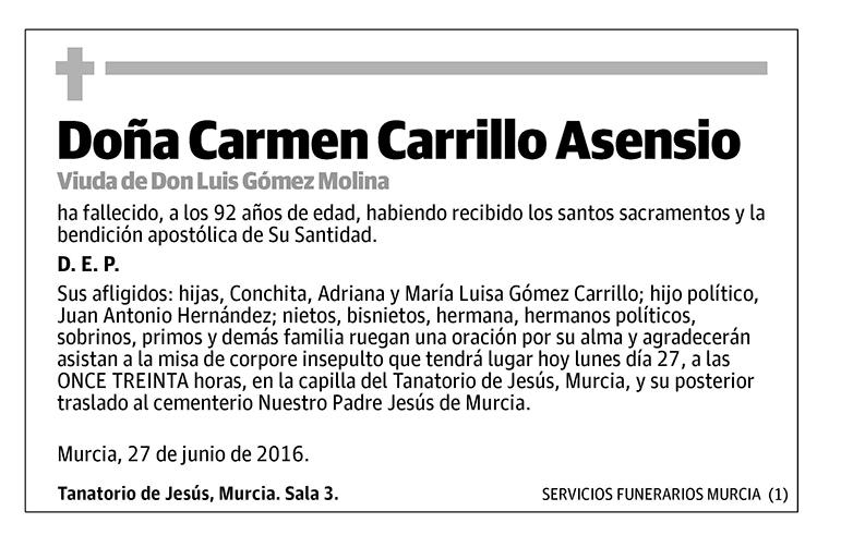Carmen Carrillo Asensio