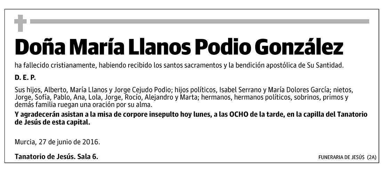 María Llanos Podio González