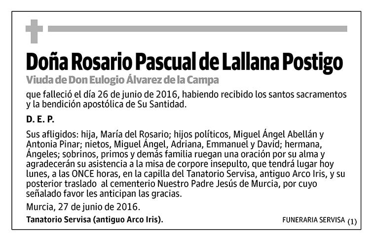 Rosario Pascual de Lallana Postigo
