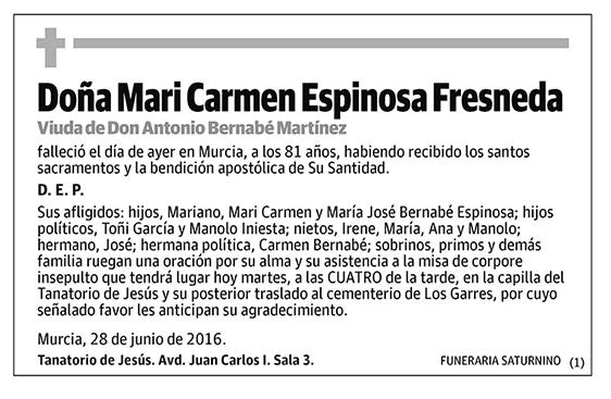 Mari Carmen Espinosa Fresneda