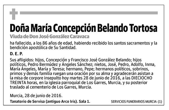 María Concepción Belando Tortosa