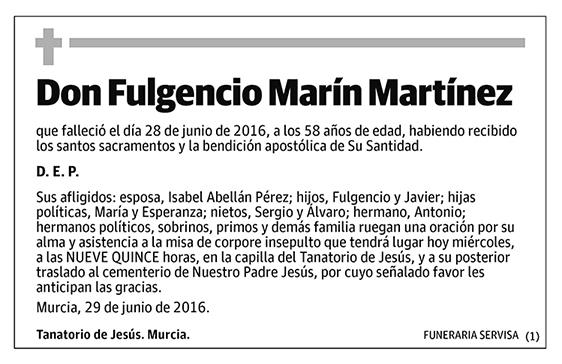 Fulgencio Marín Martínez