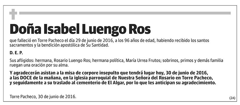 Isabel Luengo Ros