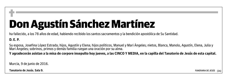 Agustín Sánchez Martínez