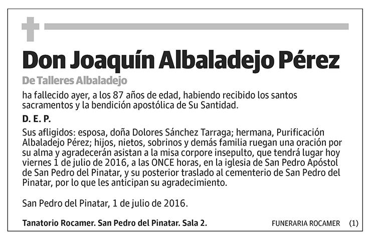 Joaquín Albadalejo Pérez