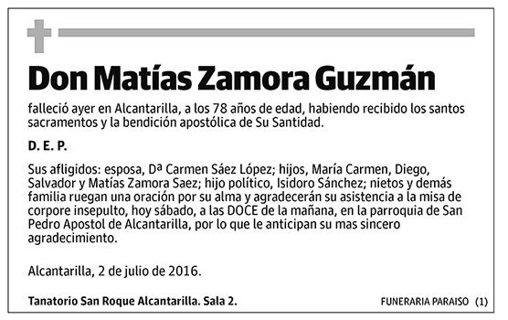 Matías Zamora Guzmán