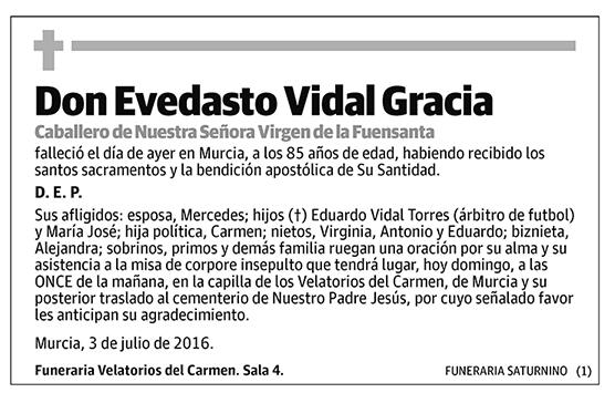 Evedasto Vidal Gracia