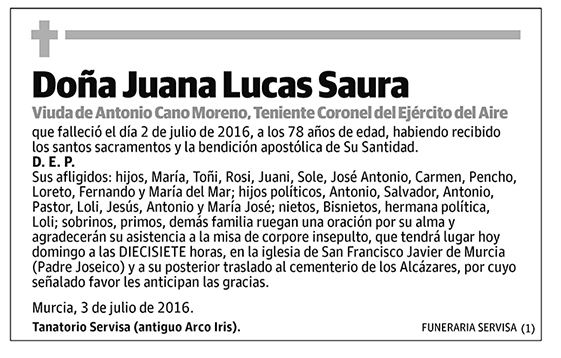 Juana Lucas Saura