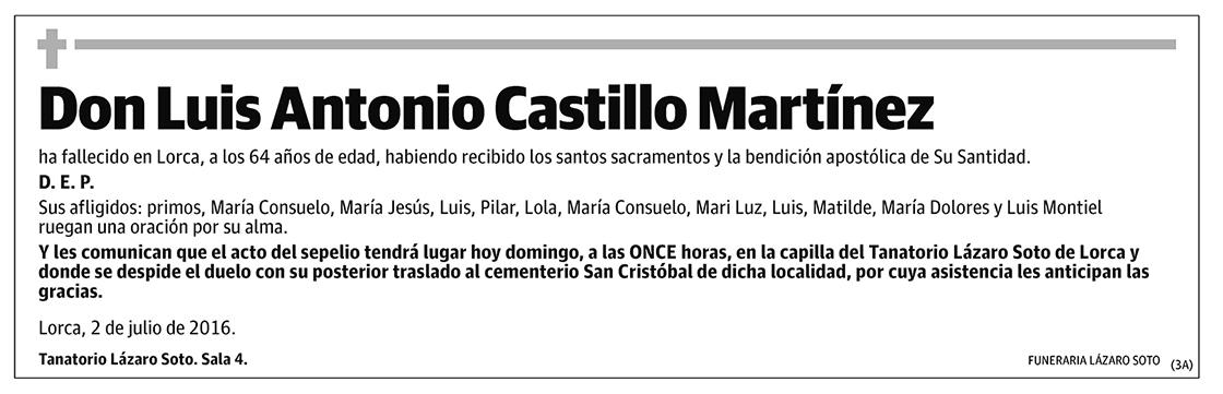 Luis Antonio Castillo Martínez
