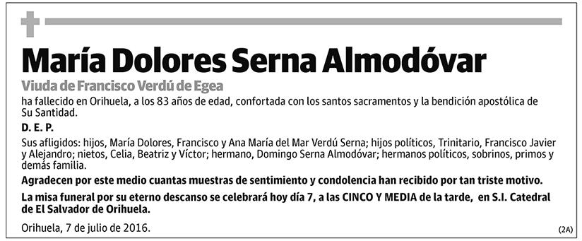 María Dolores Serna Almodóvar