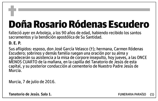 Rosario Ródenas Escudero