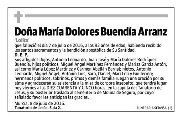 María Dolores Buendía Arranz