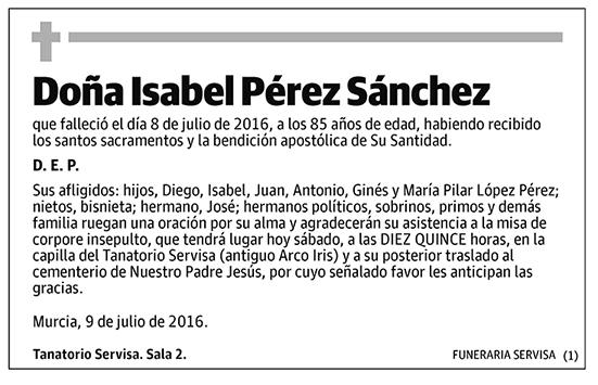 Isabel Pérez Sánchez