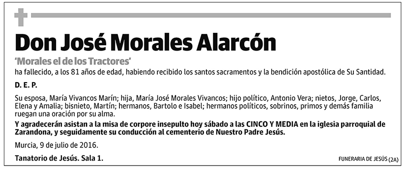 José Morales Alarcón