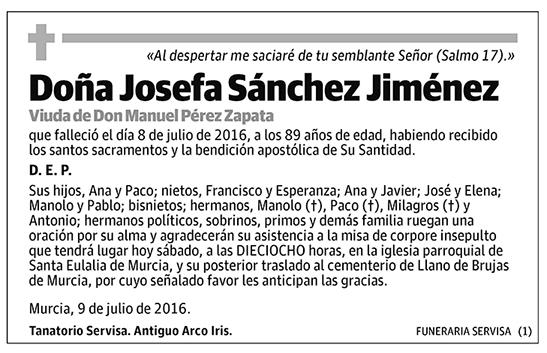 Josefa Sánchez Jiménez