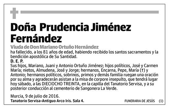 Prudencia Jiménez Fernández