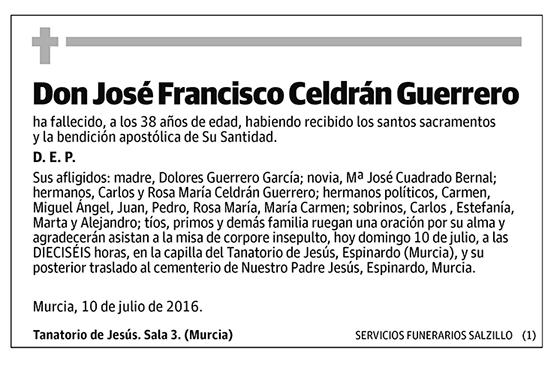 José Franscisco Celdrán Guerrero