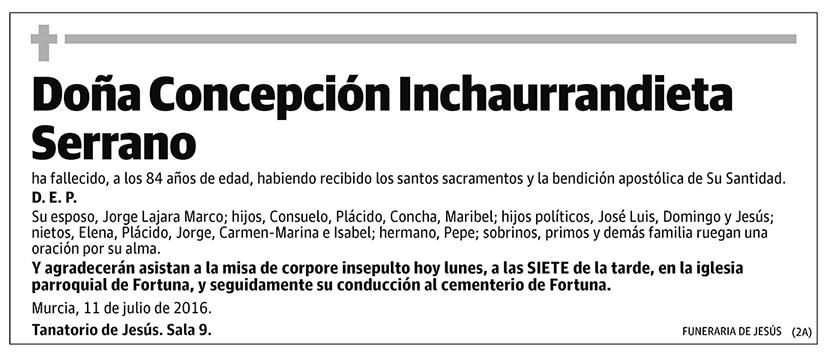 Concepción Inchaurrandieta Serrano