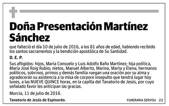 Presentación Martínez Sánchez