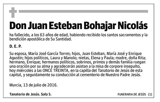 Juan Esteban Bohajar Nicolás