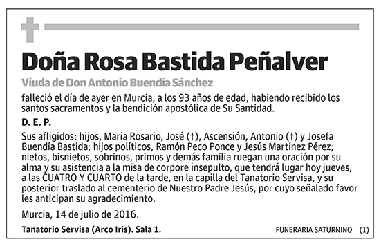 Rosa Bastida Peñalver