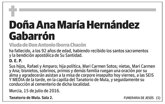 Ana María Hernández Gabarrón