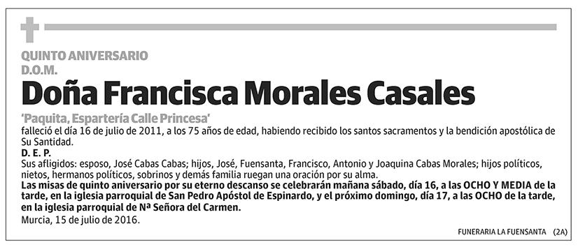 Francisca Morales Casales