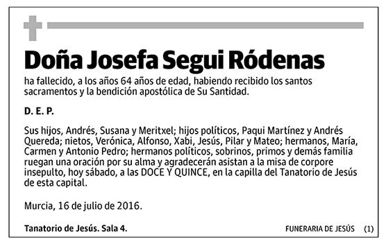 Josefa Segui Ródenas