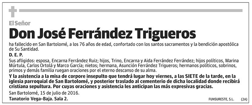 José Ferrández Trigueros