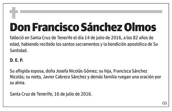 Francisco Sánchez Olmos