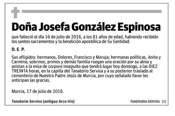 Josefa González Espinosa