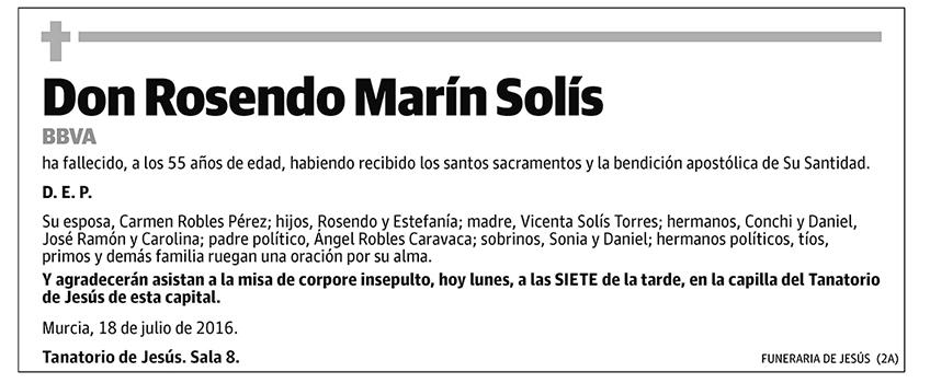 Rosendo Marín Solís