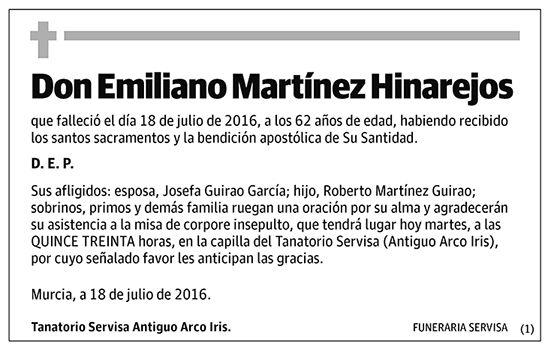 Emiliano Martínez Hinarejos