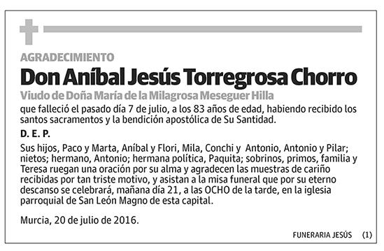 Aníbal Jesús Torregrosa Chorro