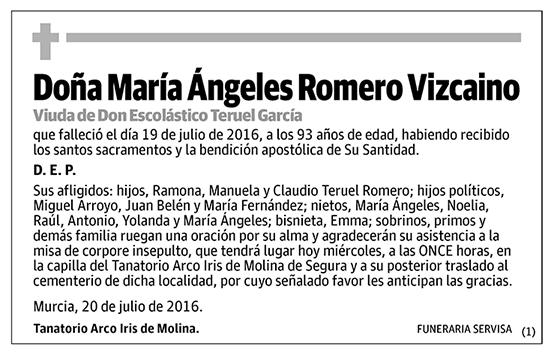 María Ángeles Romero Vizcaino