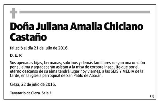 Juliana Amalia Chiclano Castaño