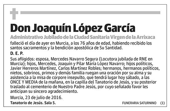 Joaquín López García