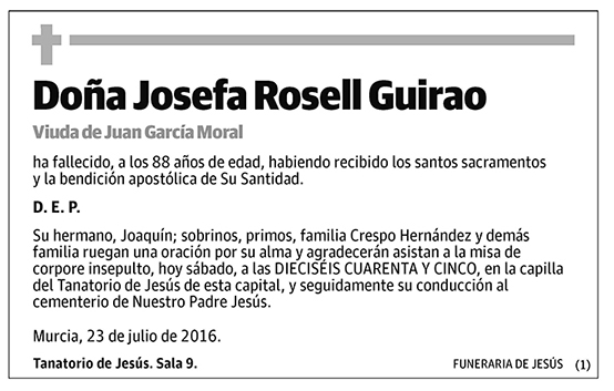 Josefa Rosell Guirao