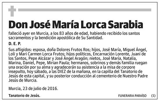 José María Lorca Sarabia
