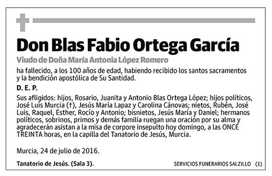 Blas Fabio Ortega García