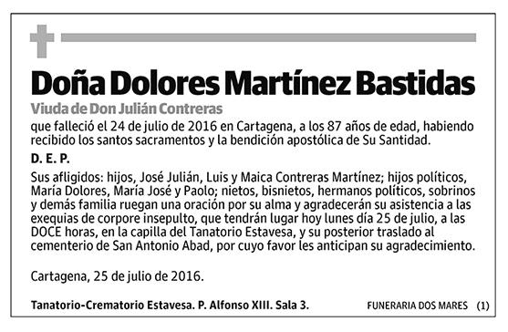Dolores Martínez Bastidas