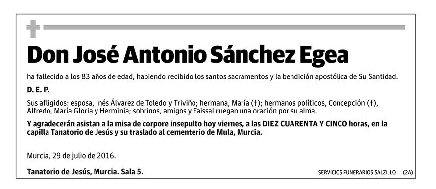José Antonio Sánchez Egea